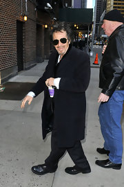 Old-school actor Al Pacino played it cool in a long wool coat while walking through NYC.