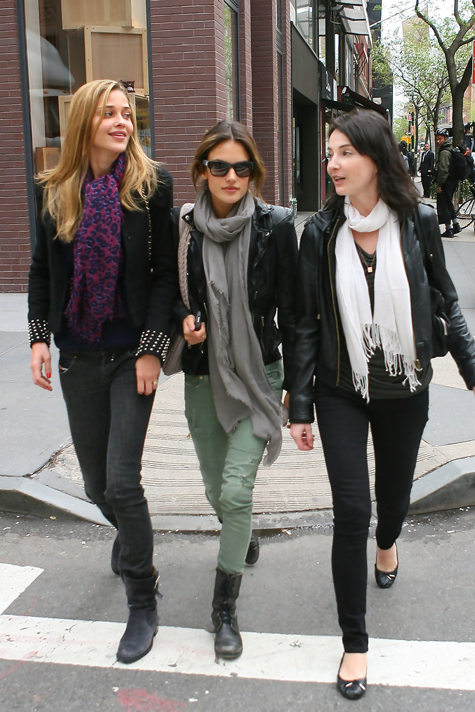 More Pics Of Alessandra Ambrosio Motorcycle Jacket 9 Of