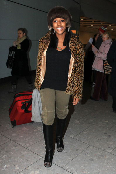 Alexandra Burke Knee High Boots