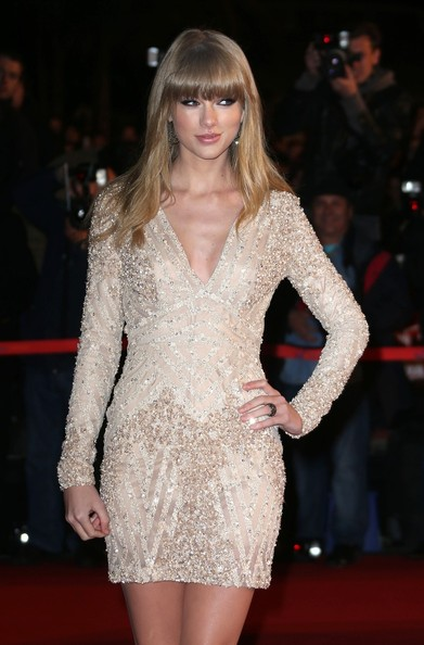 More Pics of Taylor Swift Beaded Dress (1 of 11) - Taylor Swift Lookbook - StyleBistro