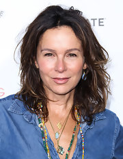 Jennifer Grey attended the 'Much Ado About Nothing' screening wearing her hair in mussed-up layers.