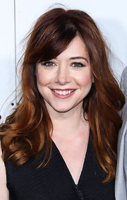 Alyson's long waves and side-swept bangs looked super relaxed and stylish on the actress.