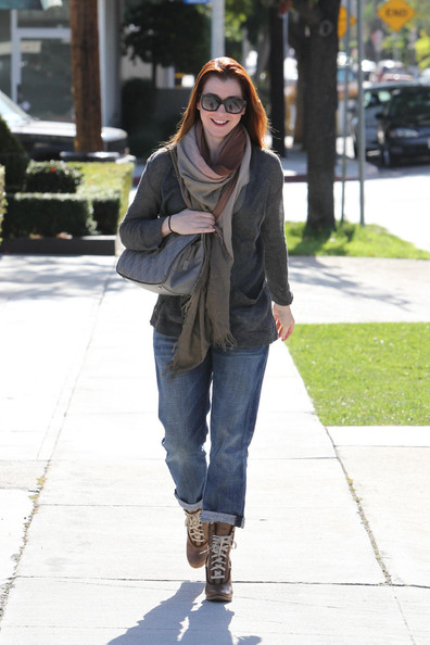 Alyson Hannigan Lace Up Boots