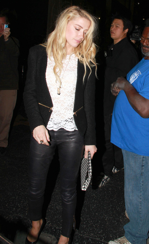 Ford Mustang Accessories >> Amber Heard Skinny Pants - Amber Heard Looks - StyleBistro