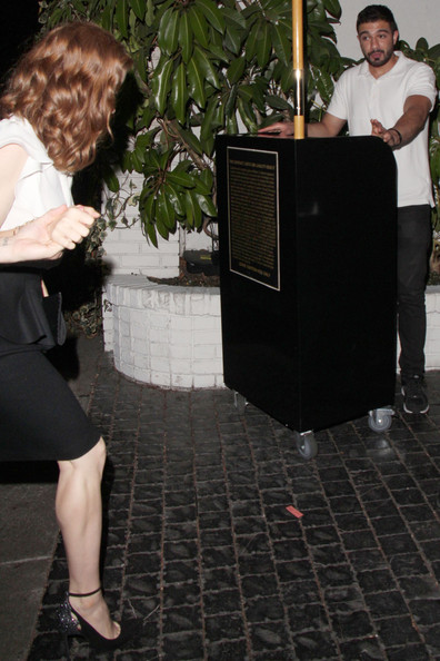 Amy Adams and Darren Le Gallo at the Chateau Marmont