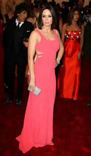 Emily Blunt showed off just a touch of skin in when she wore this stunning pink gown at the Met Gala in 2012.