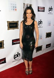 Lacey Chabert was at vixen status in this curve-hugging sequined cocktail dress.