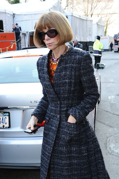 Anna Wintour Arrives at the Michael Kors Show