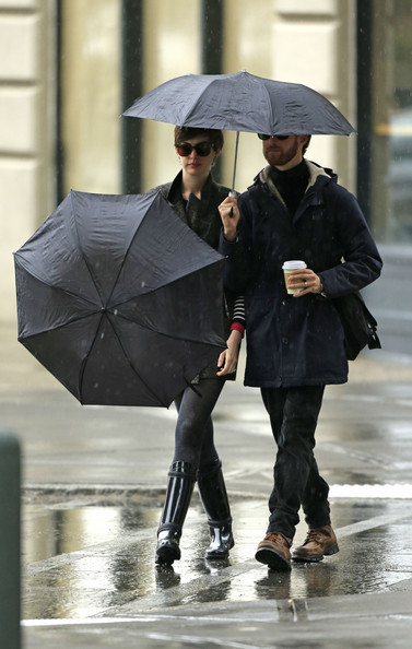 More Pics of Anne Hathaway Rain Boots (1 of 28) - Anne Hathaway Lookbook - StyleBistro