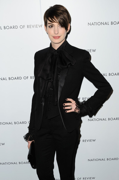 More Pics of Anne Hathaway Pantsuit (1 of 2) - Anne Hathaway Lookbook - StyleBistro