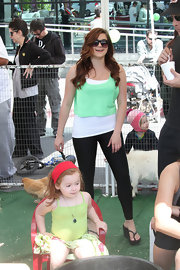 Ariel Winter showed her St. Paddy's Day pride with this green crop top.