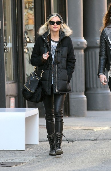 Ashlee Simpson Fur Messenger Bag