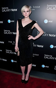 Ashlee Simpson Wentz glittered in this LBD at Fashion Week.