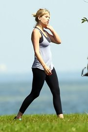 Ashley Benson worked out in Florida in a pair of tight black leggings.