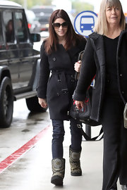 Ashley Greene donned a pair of black studded Jimmy Choo Ugg boots.