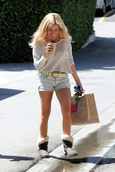 Ashley Tisdale Sheepskin Boots