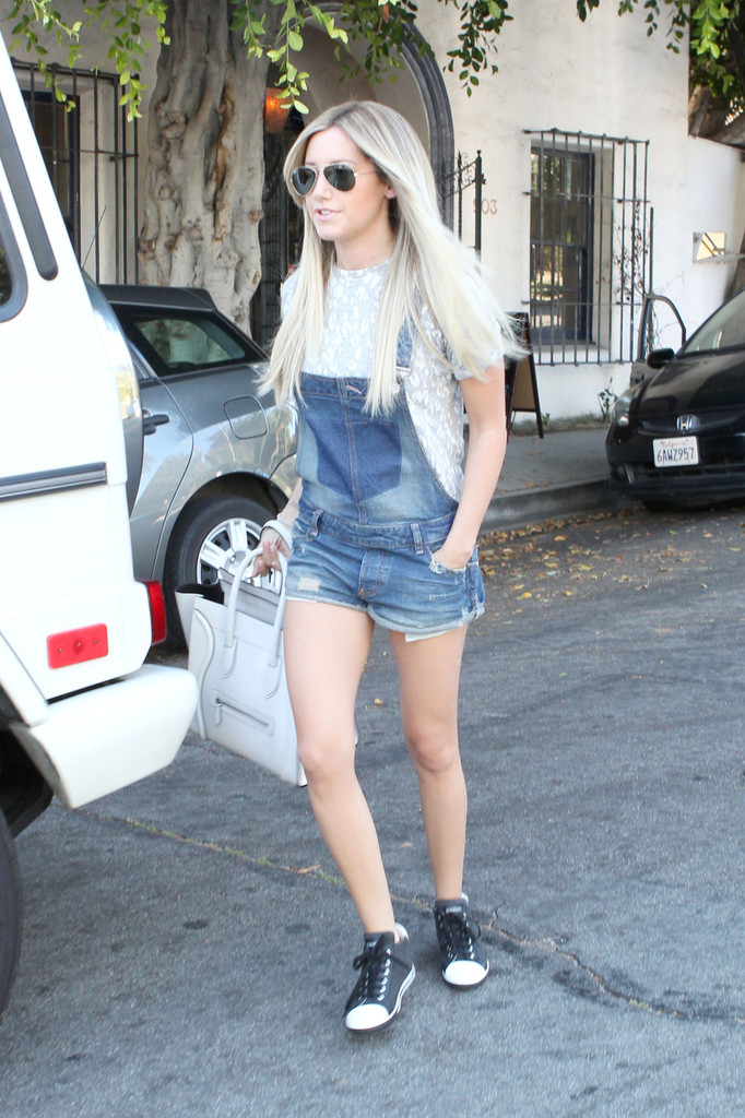 Ashley Tisdale Goes to a Salon in West Hollywood