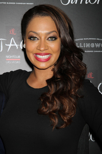 More Pics of La La Anthony Pink Lipstick (1 of 6) - La La Anthony Lookbook - StyleBistro
