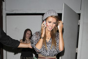 Audrina Patridge puts on a brave face to enjoy a night out at Beso in Hollywood after being eliminated from