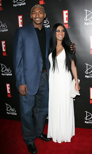 Metta World Peace's sleek blue blazer was a handsome choice for the E! Oscars party.