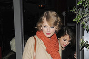 BFFs Selena Gomez and Taylor Swift stop for some ice-cream during their night out together.
