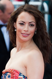 Berenice Bejo added a lovely pair of white diamond drop earrings on french wire to her look at the premiere of 'Lawless.'