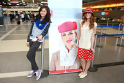 Bella Thorne looked adorable in this playful red bowed hat.