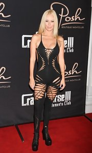Jenna Jameson exuded the ultimate in sex appeal in this sexy cutout jumpsuit.