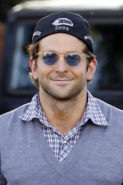 Bradley Cooper rocked blue round shades while running a few errands.
