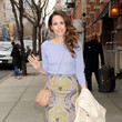 Louise Roe leaving her hotel in New York