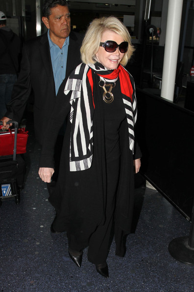 More Pics of Joan Rivers Patterned Scarf (1 of 9) - Joan Rivers Lookbook - StyleBistro []