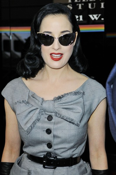 e1914abac060 More Pics of Dita Von Teese Cateye Sunglasses (14 of 29) - Dita Von Teese  Lookbook - StyleBistro