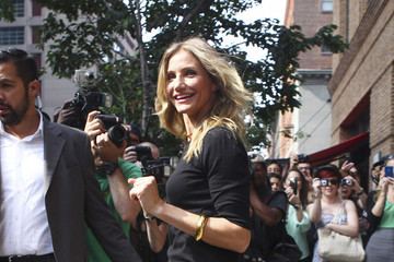 Cameron Diaz Repeats an Outfit to Promote Bad Teacher in New York