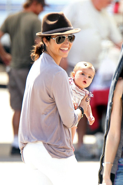 Camila Alves takes her kids Levi and baby Vida to visit papa Matthew ...