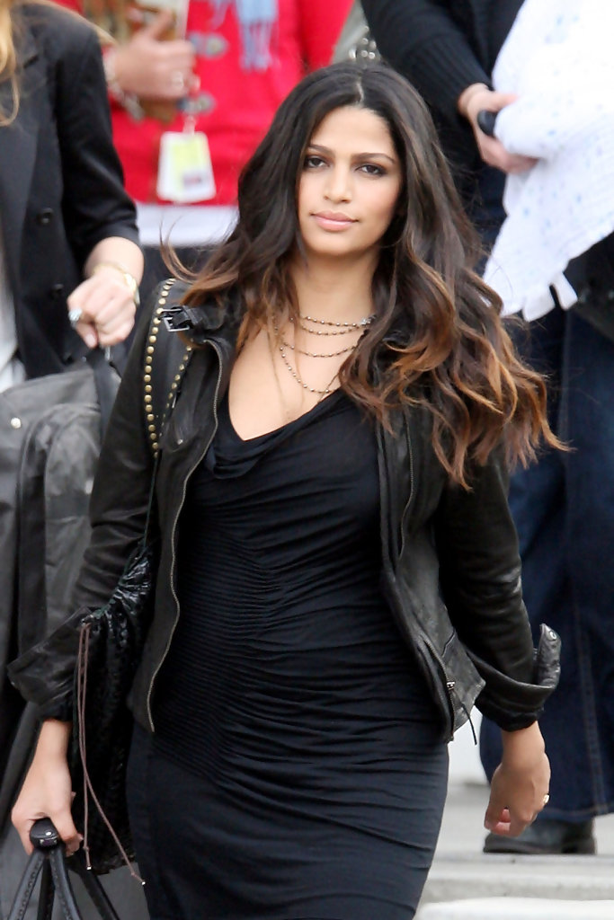 Camila Alves Leather Jacket Camila Alves Outerwear Looks