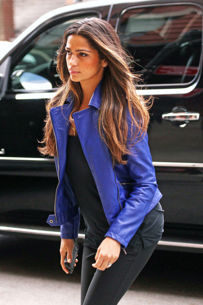 More Pics of Camila Alves Motorcycle Jacket (5 of 6) - Camila Alves Lookbook - StyleBistro