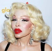 Amanda Lepore had her hair curled for the GLAAD Manhattan Summer Event.