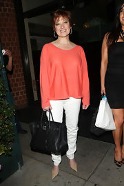 "New Jersey housewife Caroline showed off her designer ""Birkin"" bag, which costs a pretty penny, while out with fellow cast mates."