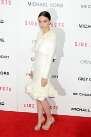 Rooney Mara's gorgeous white dress was all about the texture. We loved the structural silhouette, as well!