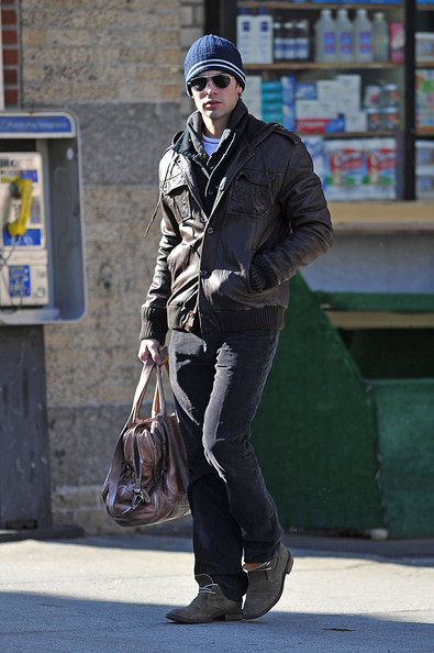 Chace Crawford Leather Jacket []