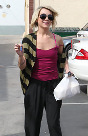 Chelsea Kane showed off her toned physique in a tight berry camisole.
