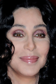 Cher brightened up her beauty look with purple eyeshadow when she attended the 2010 Glamour Women of the Year gala.