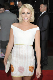 Lydia Rose Bright's off-the-shoulder dress looked oh-so-elegant with its textured bodice and beaded skirt.