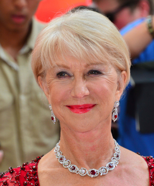 More Pics of Helen Mirren Red Lipstick (1 of 5) - Helen Mirren Lookbook - StyleBistro