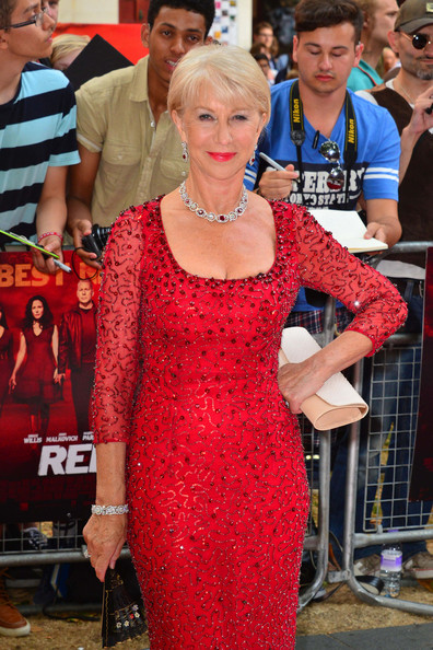 More Pics of Helen Mirren Red Lipstick (3 of 5) - Helen Mirren Lookbook - StyleBistro