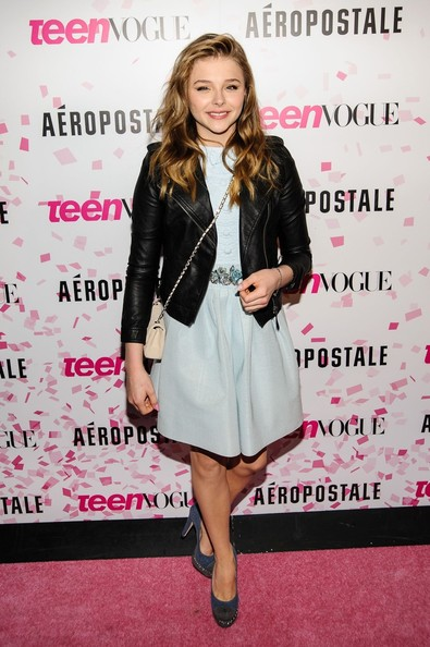 Chloe Grace Moretz Leather Jacket