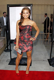 Toni Trucks looked lovely in this abstract print taffeta cocktail dress at the 'Ruby Sparks' premiere.