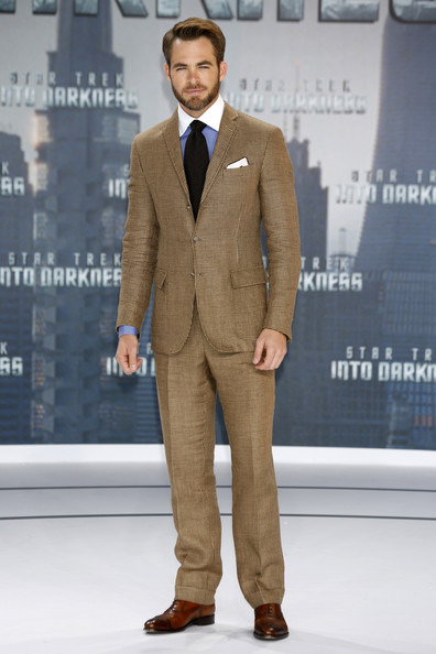 Chris Pine Men's Suit