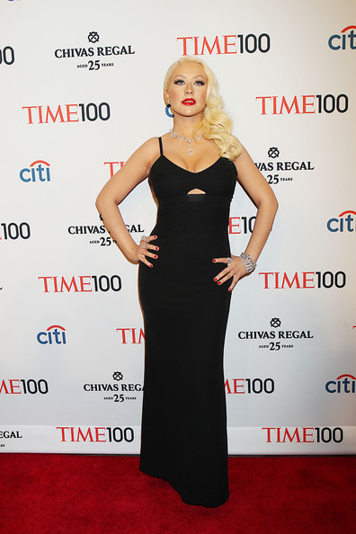 More Pics of Christina Aguilera Evening Dress (1 of 12) - Evening Dress Lookbook - StyleBistro