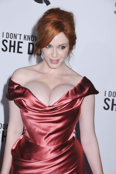 Christina Hendricks Strapless Dress